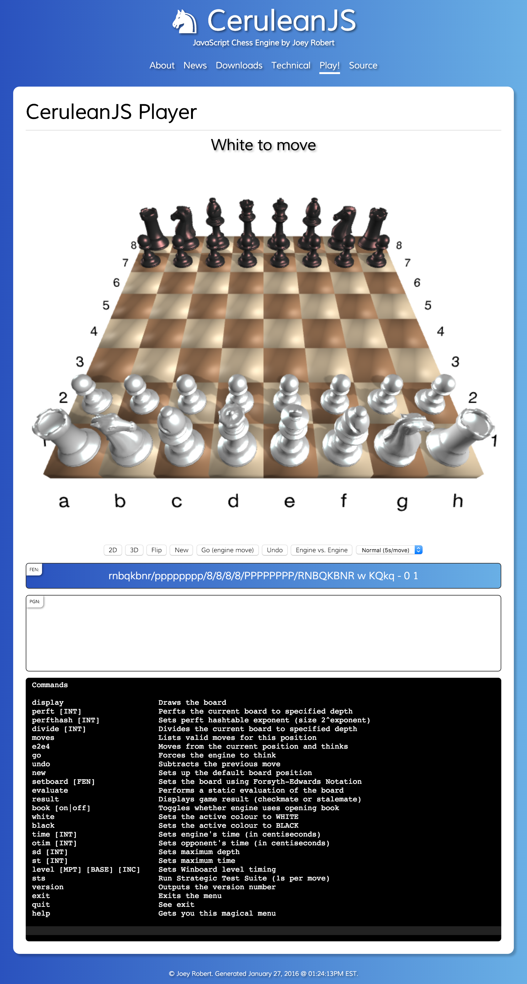 Play CeruleanJS chess online